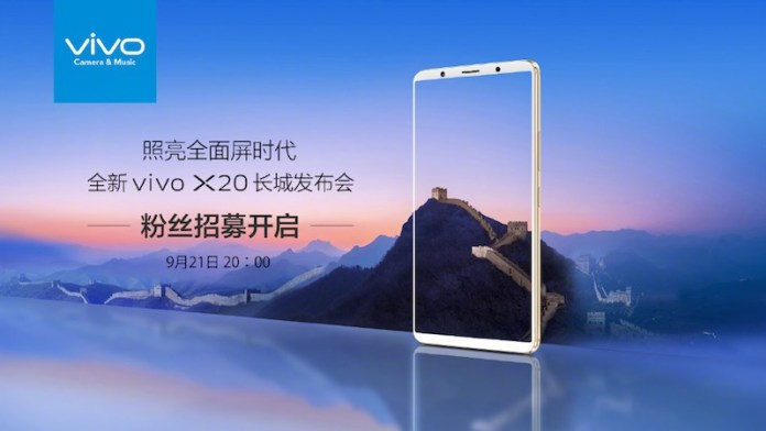 Vivo X20 Smartphone To Be Unveiled on September 21