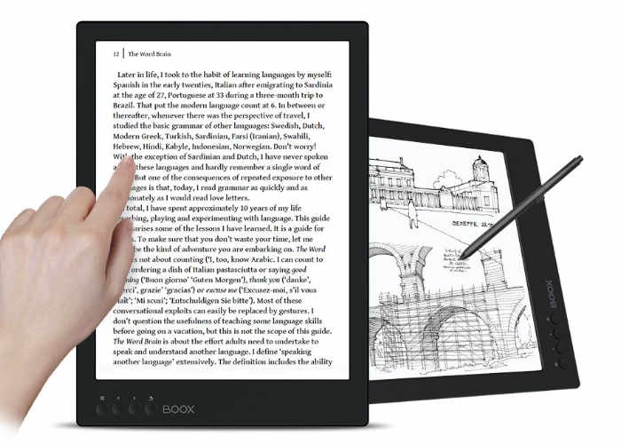 Onyx Boox Max 2 Professional features a massive 13.3-inch E Ink Carta flexible touch display
